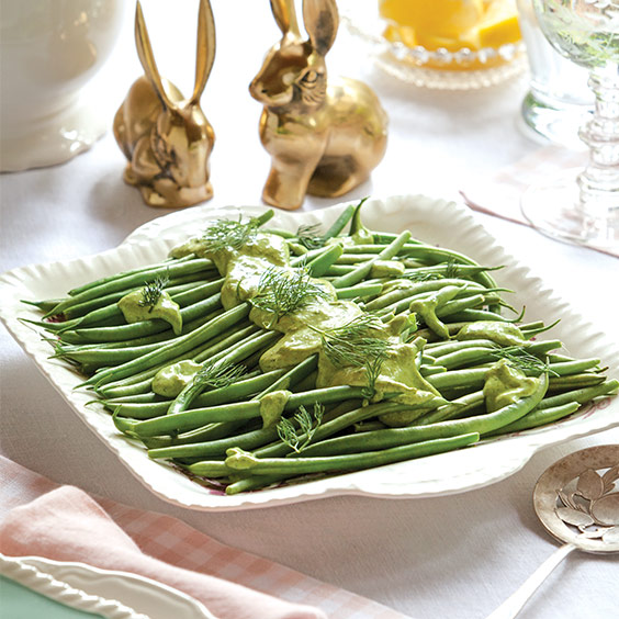 Green Beans with Creamy Herb Sauce