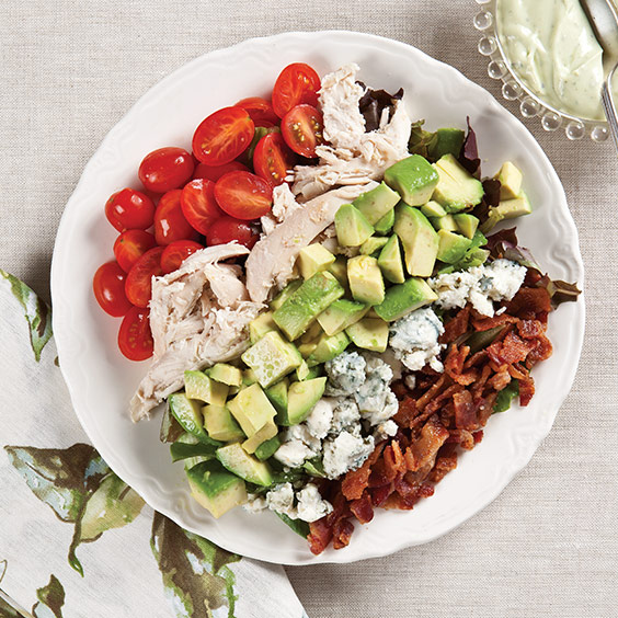 Cobb Salad with Creamy Avocado Dressing