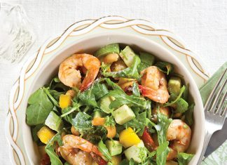 Shrimp, Avocado, and Mango Salad
