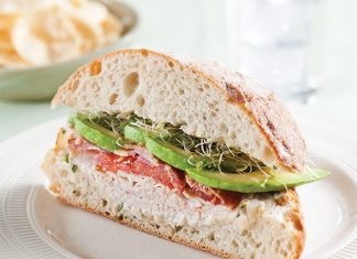 Avocado and Turkey Club Sandwiches