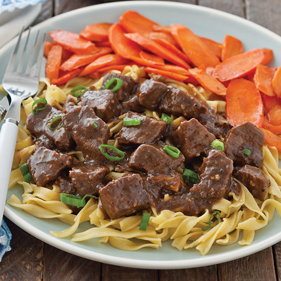 Beef Tips in Gravy