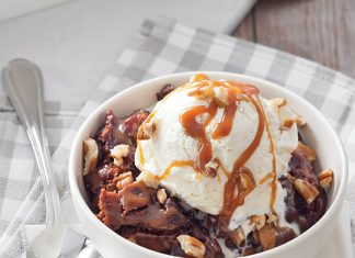 Chocolate-Pecan Cobbler