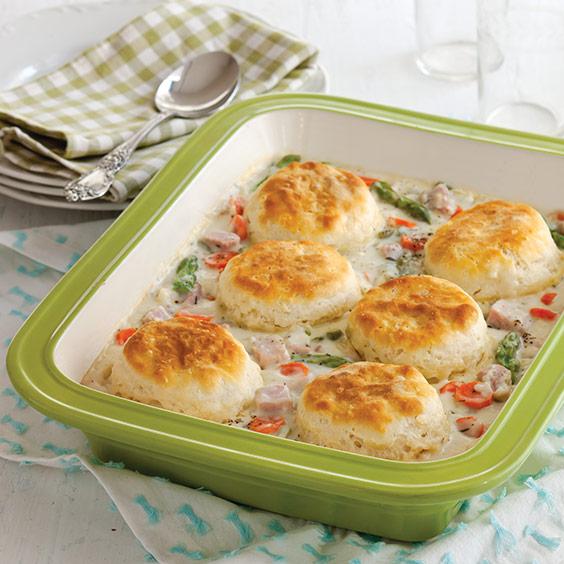 Ham and Asparagus Pot Pie