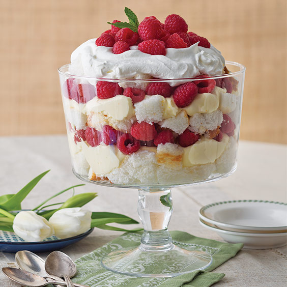 Raspberry and Orange Cream Trifle