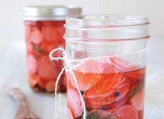Ginger-Pickled Radishes
