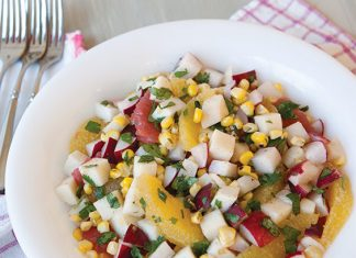 Crisp Radish, Corn, and Citrus Salad