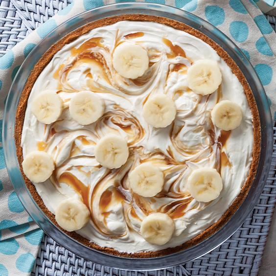 Banana Caramel Cheesecake Pie