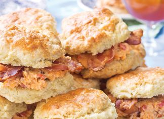 Pimento Cheese and Maple Bacon Biscuit Sandwiches