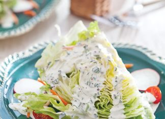 Wedge Salad with Tarragon Buttermilk Dressing