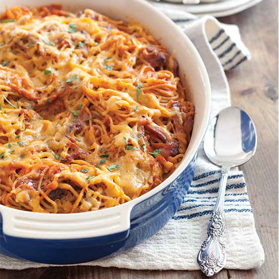 Baked Barbecue Spaghetti