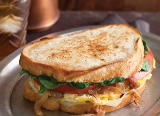 Egg and Caramelized Onion Sandwiches