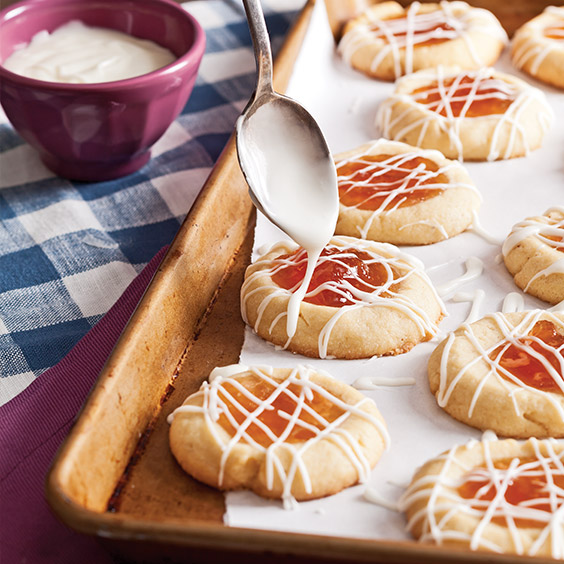 Pear Thumbprint Cookies