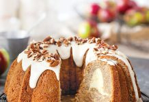 Apple Cream Cheese Swirl Bundt Cake