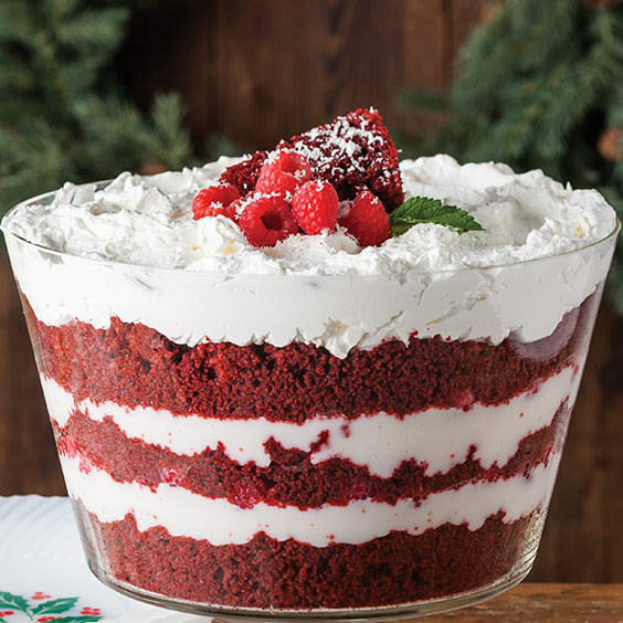 Raspberry Red Velvet Trifle