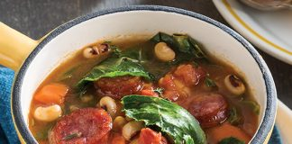 Black-Eyed Peas and Collard Greens Soup