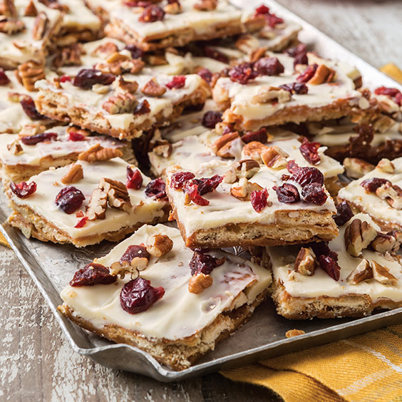 White Chocolate Cherry Cranberry Toffee