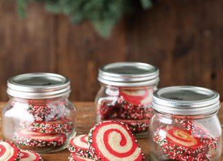 Pinwheel Peppermint Sugar Cookies