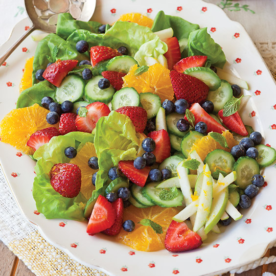 Fruit Salad with Sweet Orange Dressing