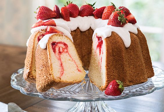Strawberry Swirl Pound Cake