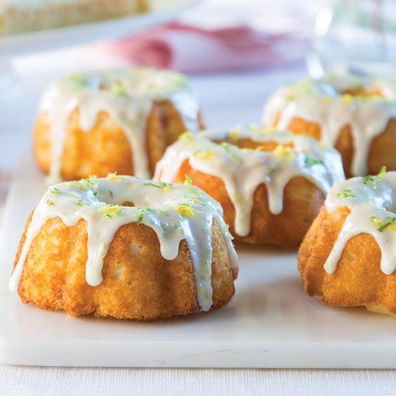 Mini Citrus Bundt Cakes