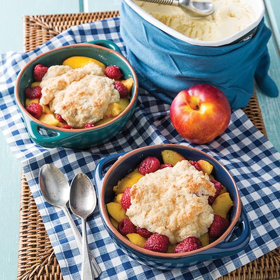 Nectarine Raspberry Cobblers - Paula Deen Magazine