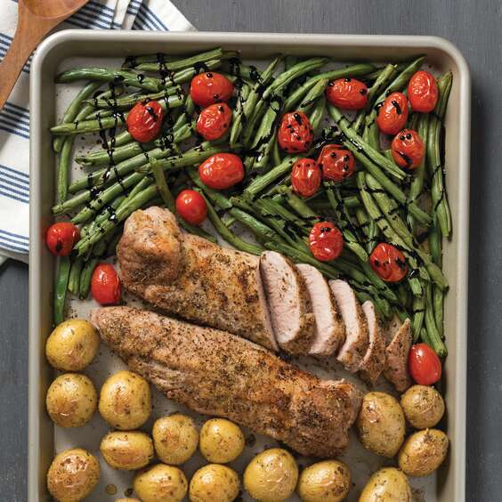 Sheet Pan Pork, Potatoes, and Vegetables