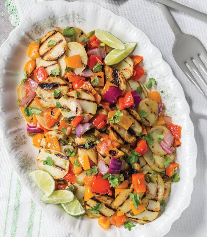 Grilled Potato and Pepper Salad