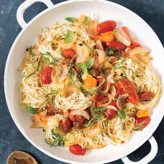 Roasted Tomato and Vidalia Onion Pasta