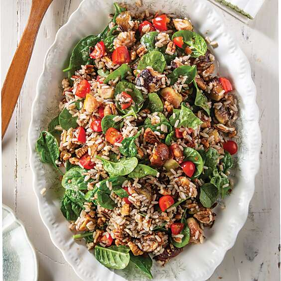 Crunchy Wild Rice and Fig Salad