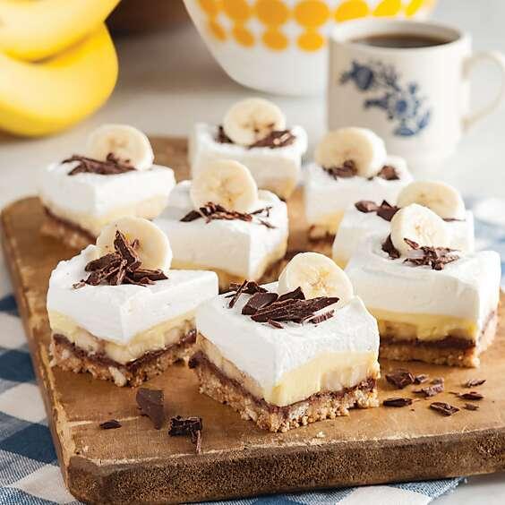 Black-Bottom Banana Pudding Bars