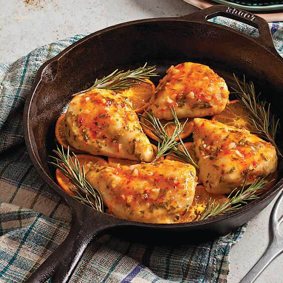 Rosemary Chicken with Tangerine Pepper Jelly Glaze