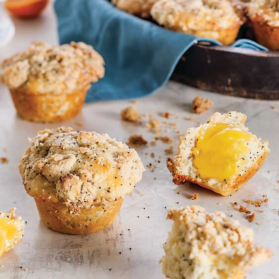 Meyer Lemon Poppy Seed Streusel Muffins