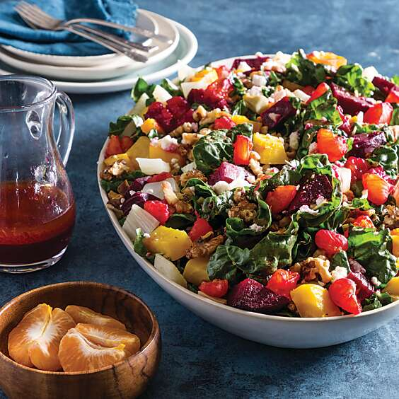 Roasted Beet, Chard, and Clementine Salad