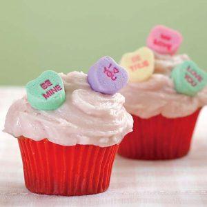 Strawberry Soda Mini Cupcakes