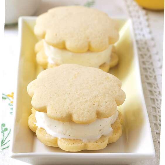 Lemon-Buttermilk Ice Cream Sandwiches