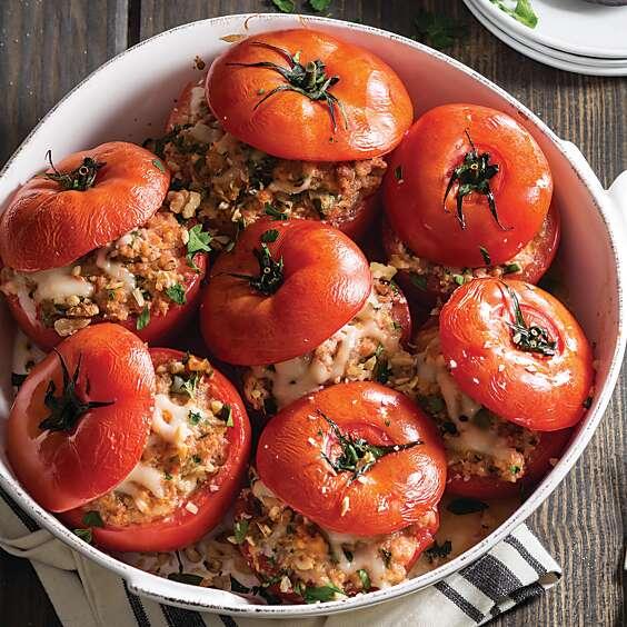 sausage-stuffed tomatoes