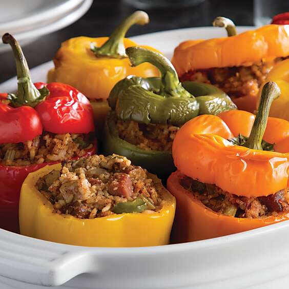 Jambalaya-Stuffed Bell Peppers